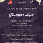 Incontri in Biblioteca Bindi: Giuseppe Lupo – Giovedì 7 marzo alle ore 17,30