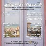 """Letture al tramonto"""" sulla terrazza di Palazzo Bindi: i venerdì di giugno dedicati ai nuovi autori di Artemia Nova Editrice"""