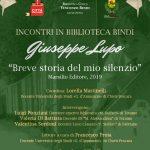 """Incontri in Biblioteca: G. Lupo, """"Breve storia del mio silenzio"""""""