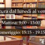 """La Biblioteca Civica """"V. Bindi"""" aperta anche di mattina: i nuovi orari da lunedì 30 agosto 2021"""